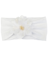 Baby Wisp Headband Nylon Flower White