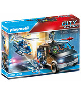 Playmobil City Action Helicopter Pursuit avec Runaway