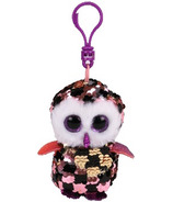 Ty Flippables Checks the Pink & Gold Owl Sequin Clip