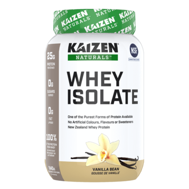 Kaizen Naturals Whey Isolate Protein Vanilla Bean
