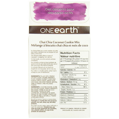 ONEearth Chai Chia Coconut Cookie Mix