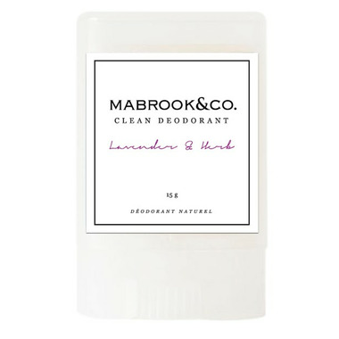 Mabrook & Co. Clean Deodorant Lavender & Herb Travel Size