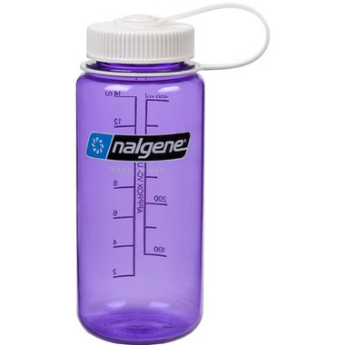 Nalgene 16 Ounce Wide Mouth Bottle Purple with White Cap