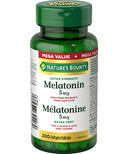 Nature's Bounty Melatonin 5 mg Softgels Mega Value Size