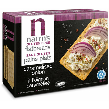 Nairn\'s Gluten Free Flatbreads Caramelised Onion
