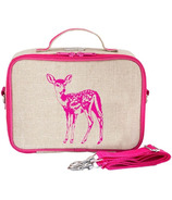 SoYoung Raw Linen Pink Fawn Lunch Box