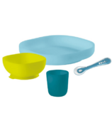 Beaba Peacock Silicone Feeding Set