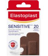Elastoplast Adhesive Bandages for Sensitive Skin Dark