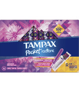 Tampax Pocket Radiant Compact Tampons Regular Absorbency, Unscented