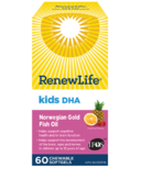 Renew Life Kids DHA Norwegian Gold Fish Oil Daily Vitamin and Omega 3's