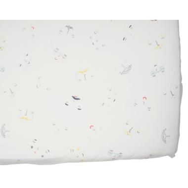 Petit Pehr Boy Peek-A-Boo Face Crib Sheet