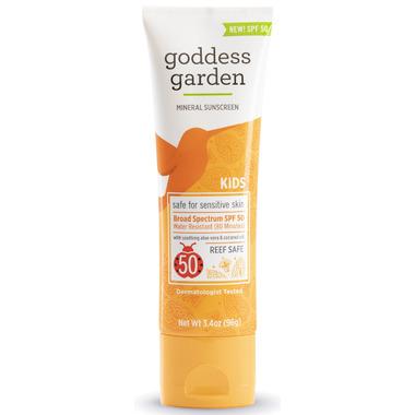 Goddess Garden Kids SPF 50 Natural Sunscreen Tube