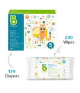 babyganics Size 5 Diaper + Fragrance Free Wipes Bundle