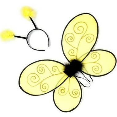 Great Pretenders Bumble Bee Wings and Headband