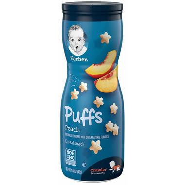 Gerber Graduates Toddler Snack Puffs Peach