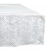 Perlimpinpin Crib Bed Skirt Grey Chevron