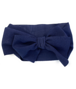 Baby Wisp Giant Lana Bow Headband Navy