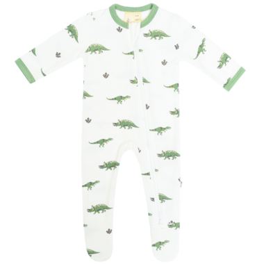 Kyte BABY Zippered Footie in Dino