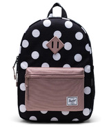 Herschel Supply Heritage Youth Polka Dot Black and White/Ash Rose