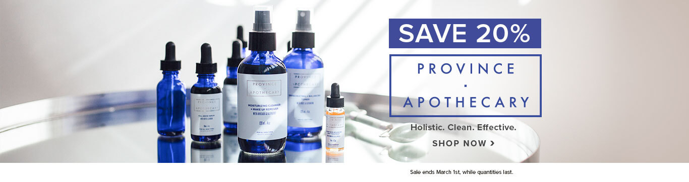Save 20% on Province Apothecary