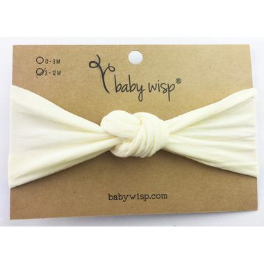 Baby Wisp Headband Turban Knot Ivory 3M+