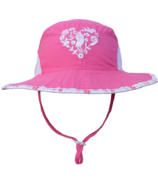 Calikids Bucket Hat with Heart Pink Lemonade