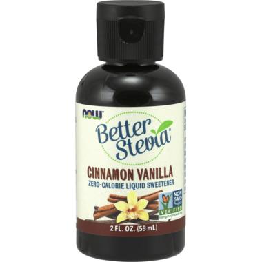 NOW BetterStevia Liquid Sweetener Cinnamon Vanilla
