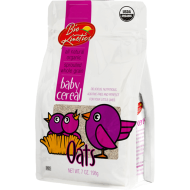 Bio-Kinetics Organic Sprouted Baby Cereal Oats