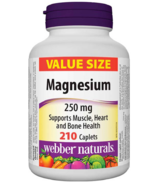 Webber Naturals Magnesium 250 mg Value Size