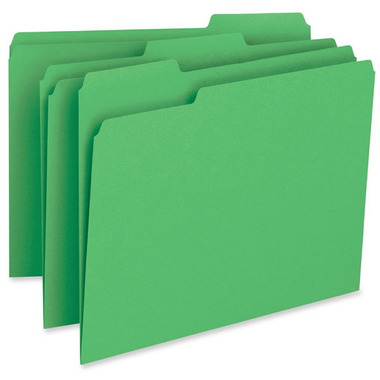 Business Source Coloured Top Tap File Folders