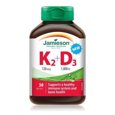 Jamieson Vitamin K+D 120mcg/1000iu