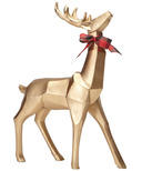 Harman Geometric Standing Reindeer Gold Small