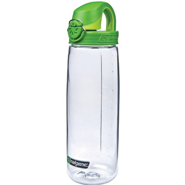Nalgene 24 Ounce On the Fly Bottle Clear with Sprout Green Cap
