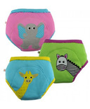 Zoocchini Girls Organic Training Pants Safari Friends
