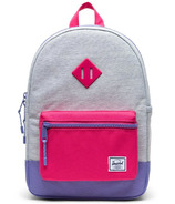 Herschel Supply Heritage Backpack Youth Grey Crosshatch Raspberry & Aster