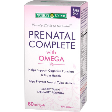 Nature\'s Bounty Prenatal Complete with Omega