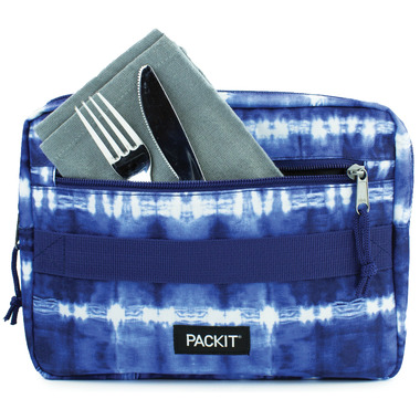PackIt Freezable Bento Box + Container Set Tie Dye