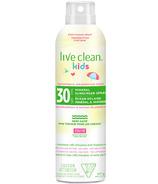 Live Clean Kids Écran solaire minéral en vaporisateur FPS 30