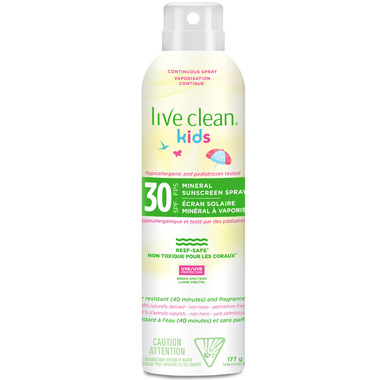 Live Clean Kids Mineral Sunscreen Spray SPF 30