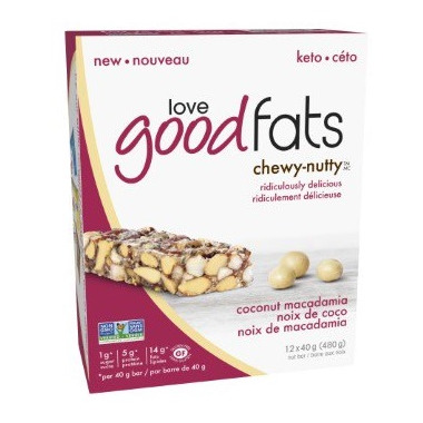 Love Good Fats Coconut Macadamia Chewy Nutty Bar Case