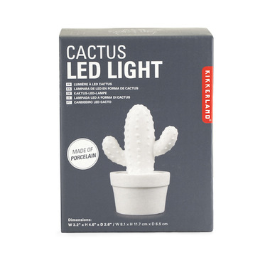 Kikkerland Cactus LED Light