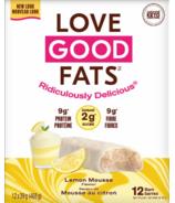 Ensemble de deux boîtes de barres collations à saveur de mousse au citron Love Good Fats