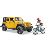 Bruder Toys Jeep Wrangler with Mountain Bike & Figure