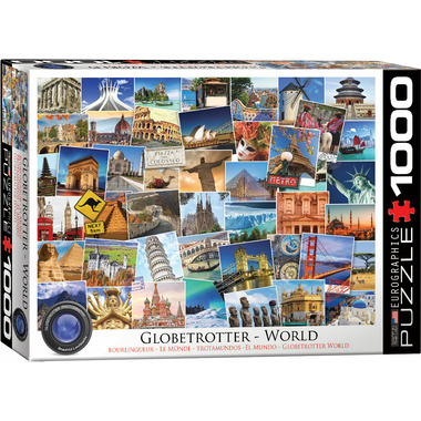 Eurographics Globetrotter World Puzzle