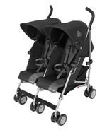 Maclaren Twin Triumph Black and Charcoal