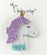 Baby Wisp Sparkly Lavender Unicorn Clip