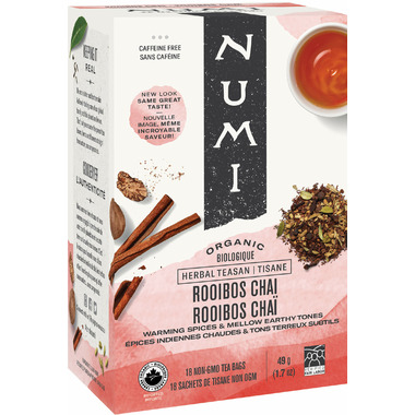 Numi Organic Rooibos Chai Herbal Tea