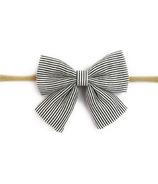 Baby Wisp Headband Charcoal & White Stripe