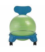 Gaiam Kids Classic Balance Ball Chair Blue & Green