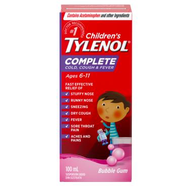 Tylenol Junior Strength Complete Cold, Cough & Fever Liquid